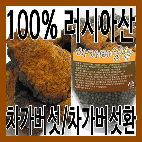(그린내추럴) 러시아산 차가버섯 1kg. 차가버섯 400g