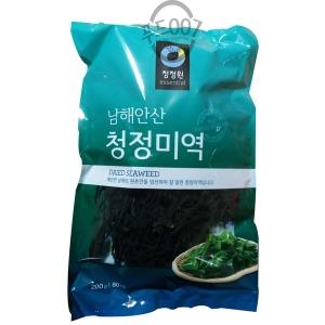 청정원 남해안산 청정미역 200g 12봉