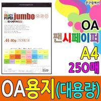 OA용지/250매/A4/점보/팬시페이퍼/칼라복사지/색지