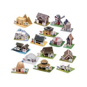 3D 입체퍼즐/세계의 전통가옥과 전통의상 16종