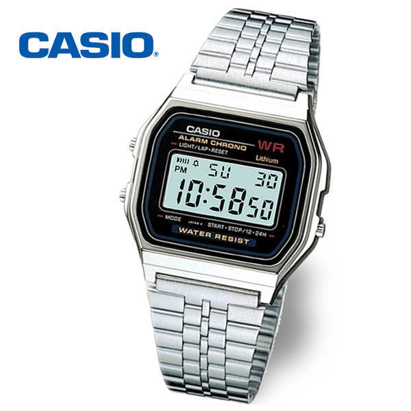 [CASIO] (현대Hmall) 정품  CASIO 카시오 A159WA-N1 빈티지 오토캘린더 알람 스탑워치 시계