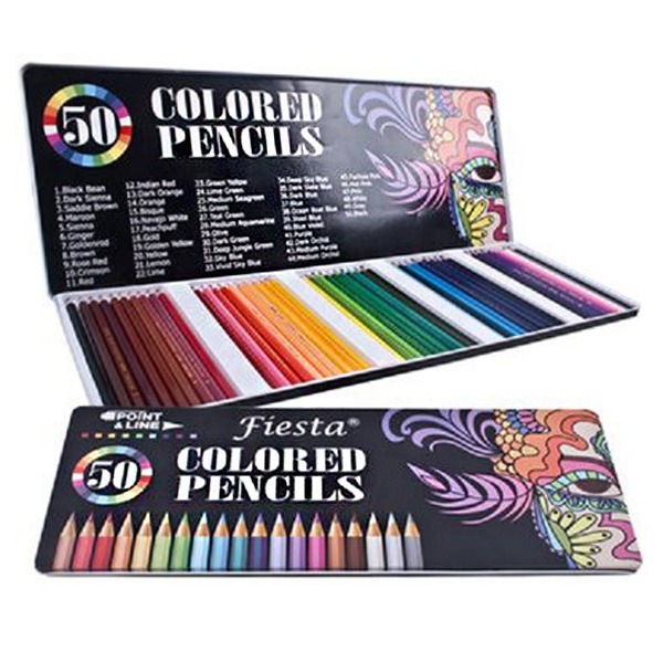 피에스타 색연필 50색 파스텔연필 컬러펜슬