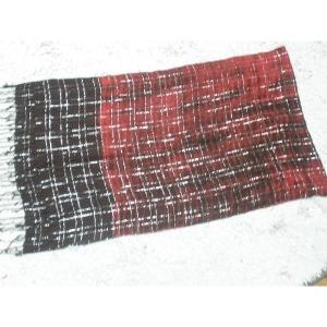 수입 비스코사 은사 배색 직사각 롱 스카프/53-184cm