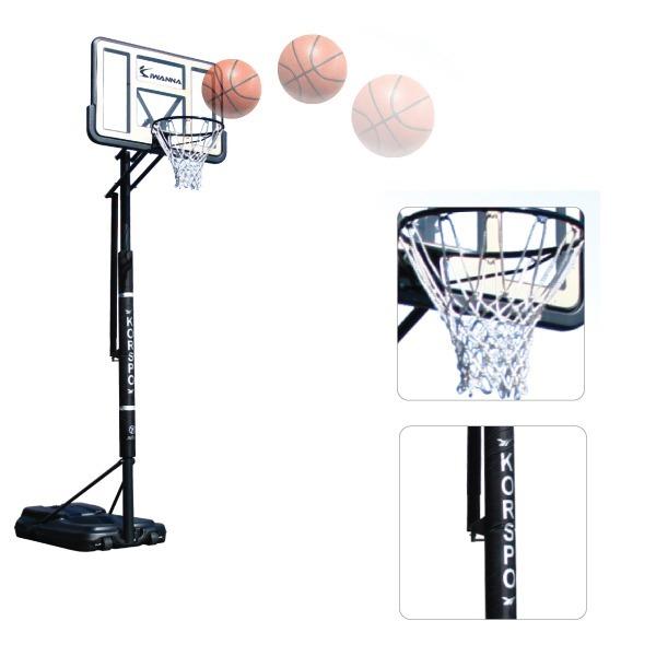 [아이워너] 이동식 농구대 학교납품 높이조절가능 이동형 골대