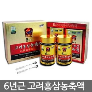 1+1특가6년근100%고려홍삼농축액240gx2병/선물/홍삼정