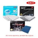 SKY 3개 활성탄 항균 고급 자동차 에어컨 필터 황사