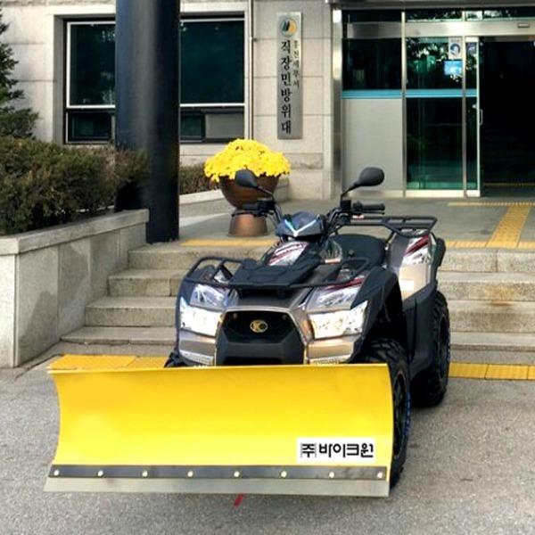 제설오토바이 제설ATV 킴코 MXU700 제설장비별매