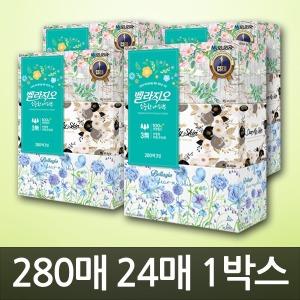 모나리자 각티슈 300매~280매 3입x8팩(24개)/벨라지오