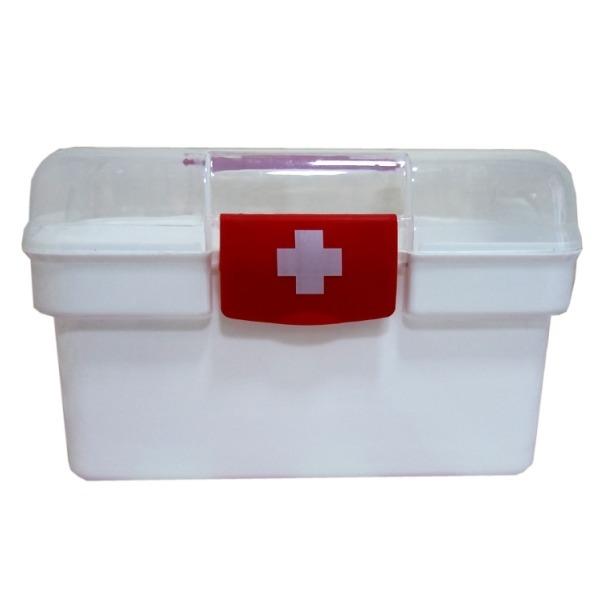 2단 투명 구급함-약상자 응급 구급 가정 상비약 용품