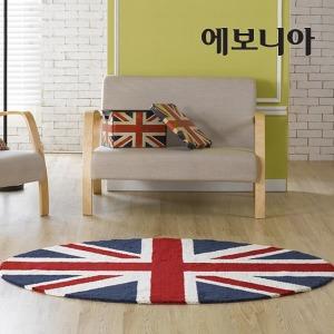 100원형 카펫트/핸드메이트/국내산/침구/카페트