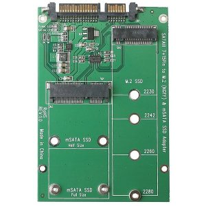 M.2 mSATA SSD to 2.5 SATA 듀얼컨버터 변환젠더