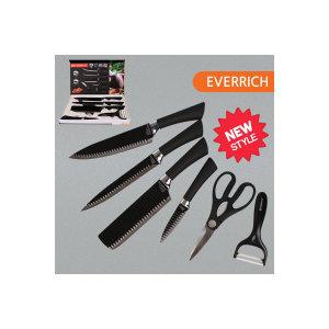에버리치 주방칼 6종 칼세트/중식칼/장미칼/악어칼/칼
