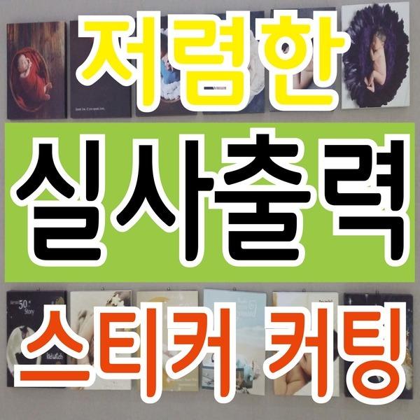 실사출력/전시출력/건물 실사/차량광고/홍보 스티커