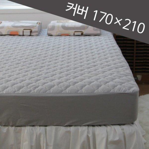바숨 순면 누빔 라지 킹 매트리스 커버 L K 170 210cm