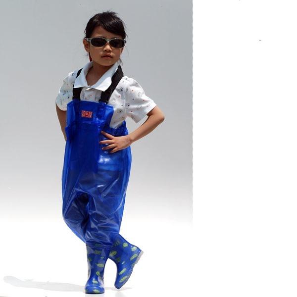 길마트 어린이 가슴장화/갯벌체험장화 아동장화