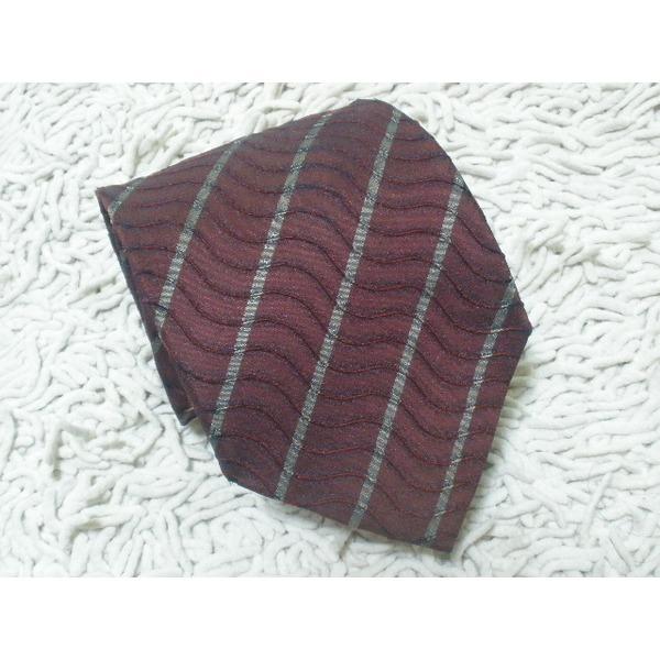 CAPACCI / 사선 쭈굴 패턴 실크 넥타이/9.5-142cm