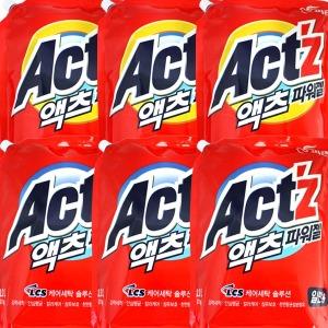 피죤 액츠파워젤2.1kg x6개/대용량/액체세제/리필