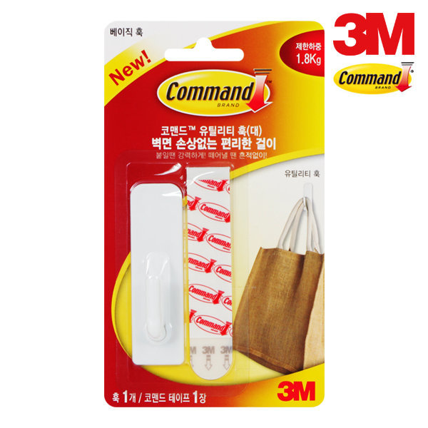 코맨드 유틸리티 훅 대/6991/제한하중1.8kg/후크/걸이