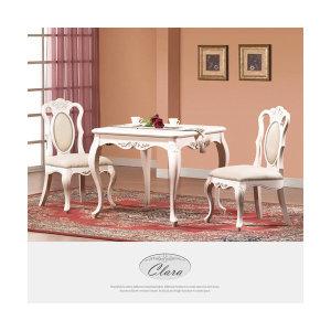 클라라 화이트엔틱 2인 식탁세트 CL017W