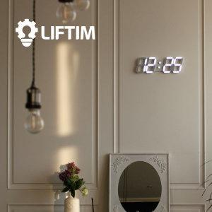 리프팀 LED 베이직 벽시계 무소음벽시계 탁상시계