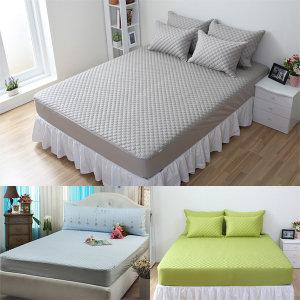 국산 순면누빔 침대 매트리스커버/매트커버 맞춤가능