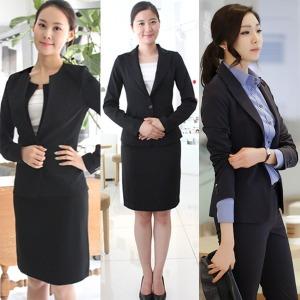 여성 기본 검정 블랙 네이비 면접 정장 양복 유니폼