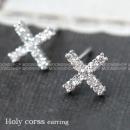 홀리 십자가귀걸이   전체 925 실버귀걸이 은귀걸이   큐빅십자가귀걸이  사은품
