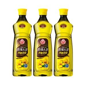 오뚜기 카놀라유 900mlX3/카놀라유/식용유