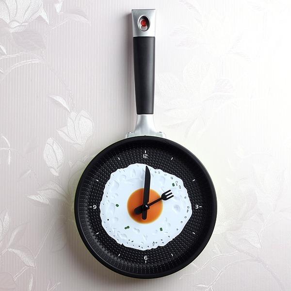 후라이팬 벽시계 요리강습 학원 인테리어 시계