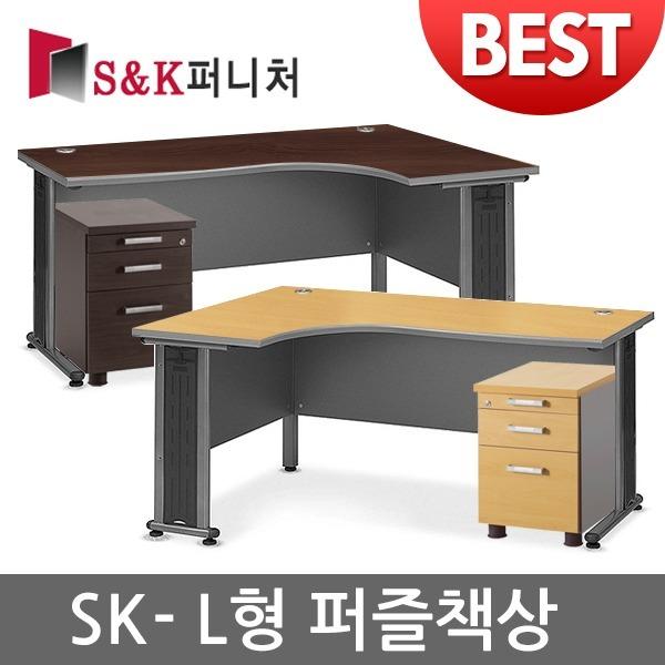 sk퍼니처/L형책상/사무용책상/책상/ㄱ자책상