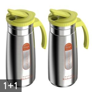 1+1 위생적인 친환경 스텐물병 1.4L 물통 물병