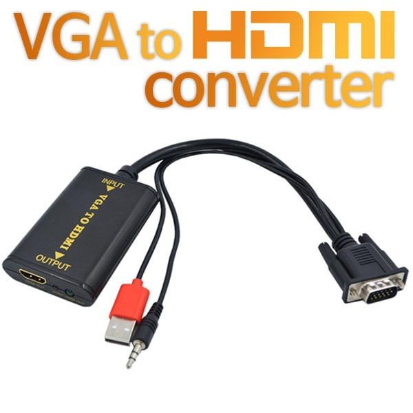 [셀인스텍]  SE-VH01  VGA to HDMI변환 컨버터 오디오일체형