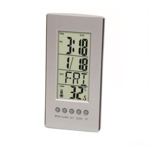 건전지 탁상 캘린더 시계 온도계-소형 책상 소품 알람