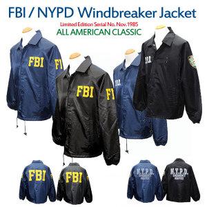 NYPD FBI 윈드브레이커 점퍼 자켓 사파리 바람막이
