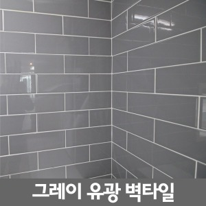 벽타일 그레이유광/100x300/욕실타일/주방타일/타일