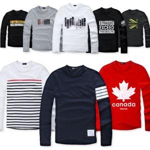 긴팔티셔츠/티셔츠/남자티셔츠/남성티셔츠/남자/남성