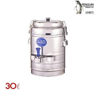 스텐 보온보냉물통 30L 보온통 보냉통 물통 계수대 물