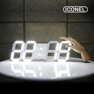 아이코넬 ICC-103 LED 벽시계 화이트 38cm 집들이선물