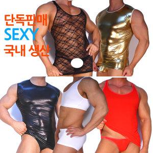 남성 런닝팬티셋트 섹시팬티 망사팬티 국산 단독판매