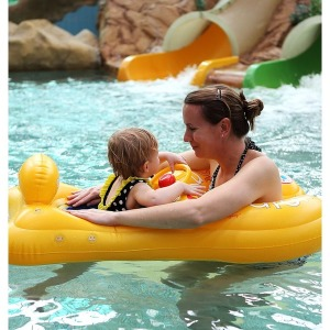 버키 엄마랑아가랑 유아 보행기 튜브 2인 아기 물놀이