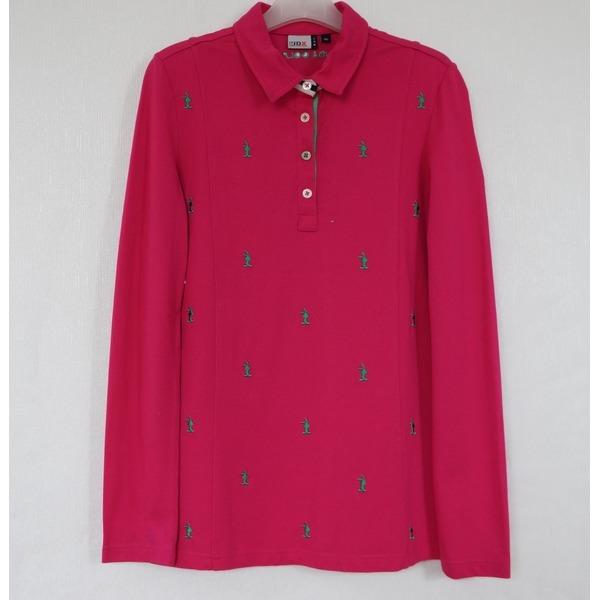 JDX 골프 여성 자수무늬 카라넥 면스판 티셔츠90/중고