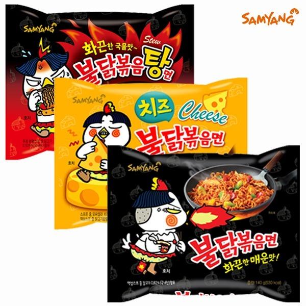 삼양 불닭볶음면6입 외 3종 택1(일반/치즈/볶음탕)