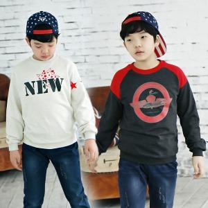 초등학생옷/가을신상/맨투맨티/주니어의류/단체복