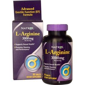 Natrol 엘아르기닌 L-Arginine 3000mg 90정