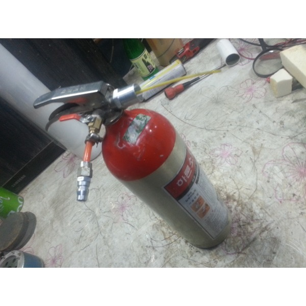 알미늄소화기통 다용도 액체청소(신나 휘발유 경유등)