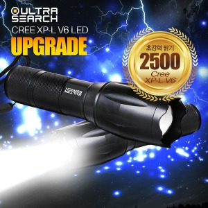 울트라서치2 2500 LED 후레쉬 손전등 Cree XP-L V6