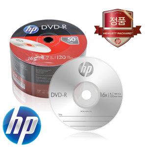 HP정품 DVD-R 16x 4.7GB 벌크팩 50장