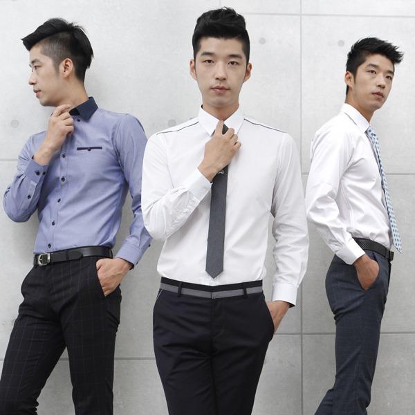 긴팔 와이셔츠/무료배송/슬림형 표준형/드레스셔츠