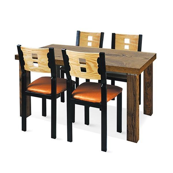멜라민 홀식탁세트/식탁+두각의자4 홀탁자 식당테이블 - 옥션