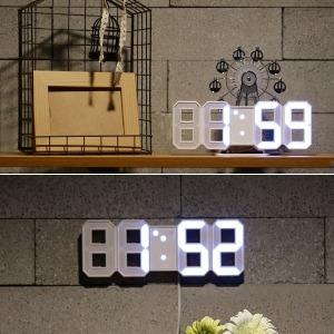 티메이드 3D LED 벽시계 탁상시계(미니) 알람시계